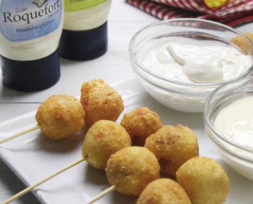 recetas-ybarra-aperitivo-bolitas-queso-chorizo-roquefort-alioli