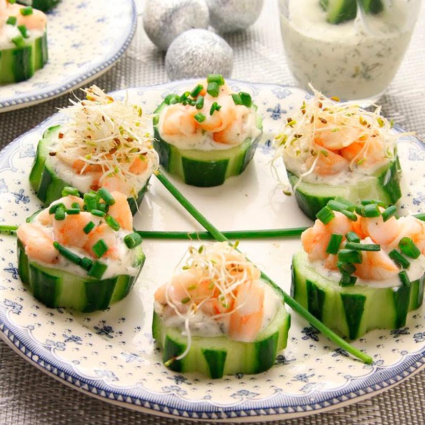 aperitivos de navidad recetas ybarra pepino con mayonesa