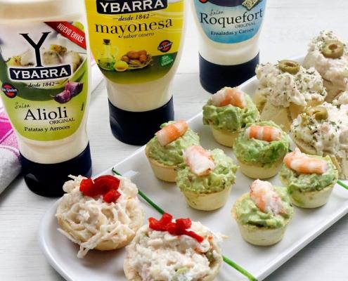 recetas-ybarra-aperitivos-frios-salsa-roquefort-alioli-mayonesa