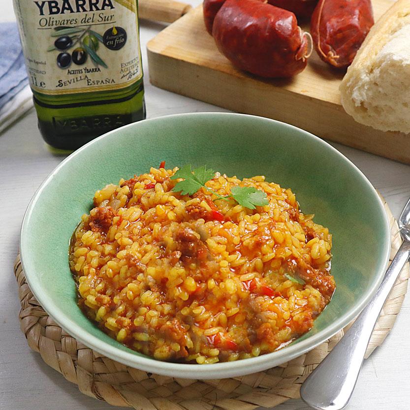 receta yarra de arroz con chorizo