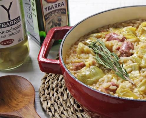 recetas-ybarra-arroz-con-salchichas-alcachofas