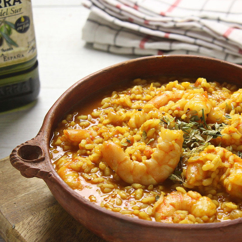 recetas ybarra arroz meloso con aceite de oliva virgen extra