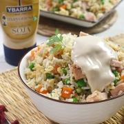 receta ybarra de arroz tres delicias con mayonesa de soja