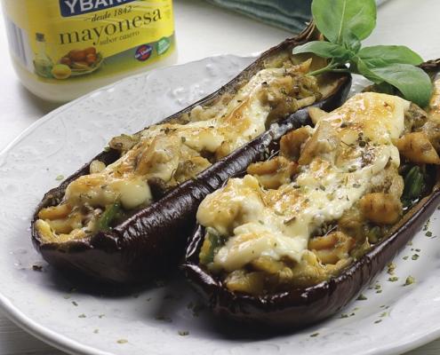 receta ybarra de berenjenas rellenas de mayonesa