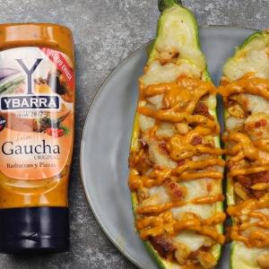 recetas ybarra calabacin relleno con pollo y salsa gaucha