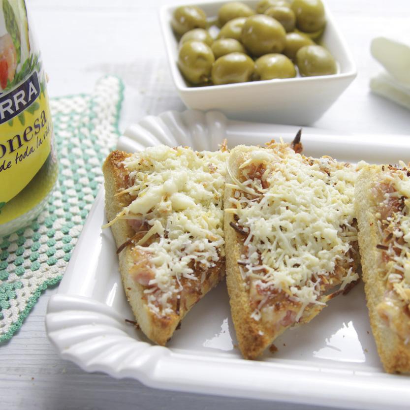 recetas ybarra canapes gratinados con mayonesa