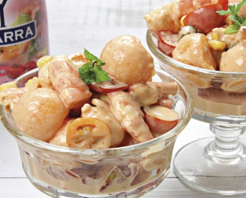 recetas ybarra cocktail de verano con salsa cocktail