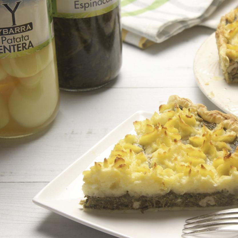 recetas ybarra corona de espinacas con patatas enteras