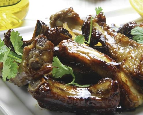 recetas ybarra de costillas a la miel con aceite de oliva virgen extra