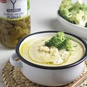 recetas ybarra crema de judias con brocoli y judias verdes redondas