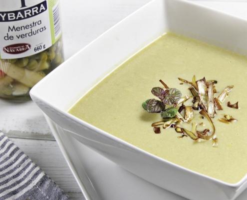 recetas ybarra crema rapida de verduras con menestra de verduras