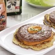 recetas ybarra crepa burguer de salsa gaucha y aceite de oliva afrutado
