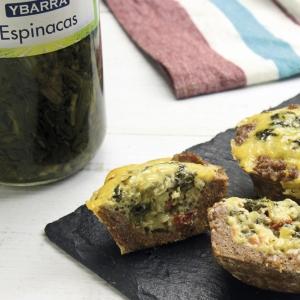 recetas ybarra cupcakes de carne y espinacas