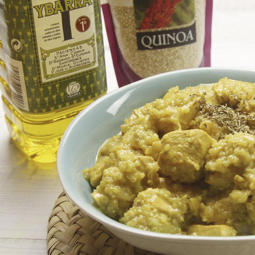 recetas ybarra pollo al curry con quinoa y aceite de oliva virgen extra