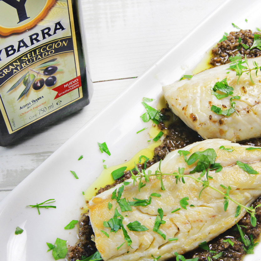recetas-ybarra-dorada-salsa-aceitunas-aceite-oliva-afrutado
