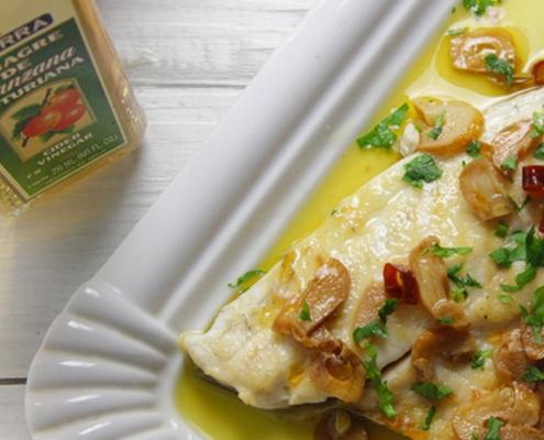 recetas ybarra dorada a la vizcaina con vinagre de manzana asturiana