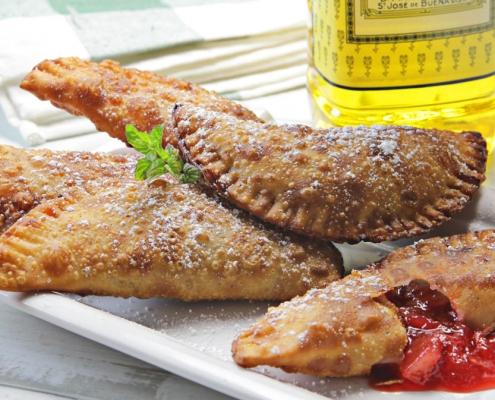 recetas ybarra empanadillas de hojaldre y fruta con aceite de oliva virgen extra
