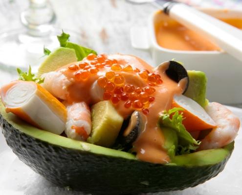 recetas ybarra ensalada de aguacate con salsa cocktail