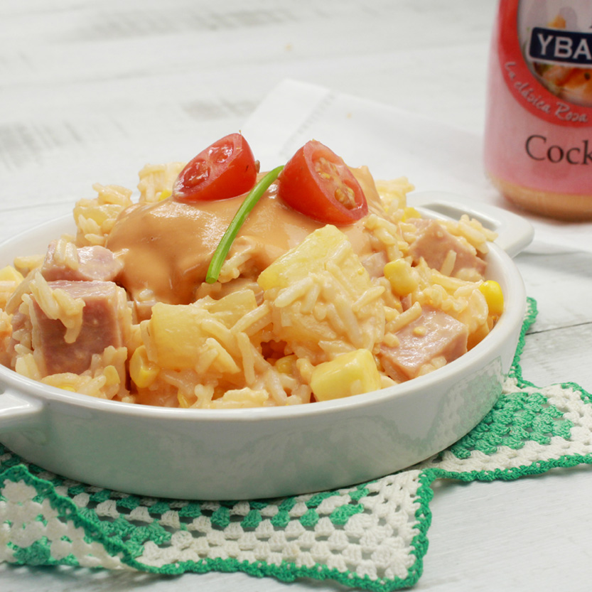recetas ybarra ensalada de arroz con salsa cocktail