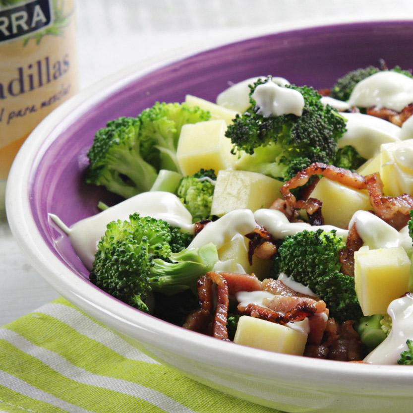 recetas ybarra ensalada de brocoli con mayonesa especial para ensaladillas