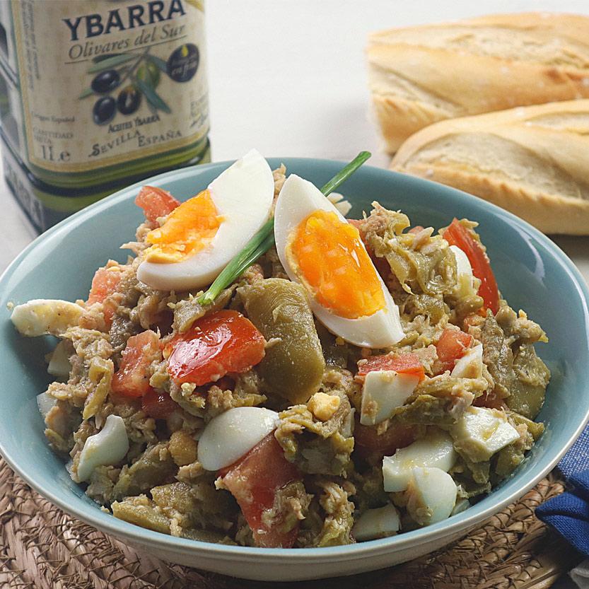 recetas ybarra ensalada de judias con atun y aceite de oliva virgen extra