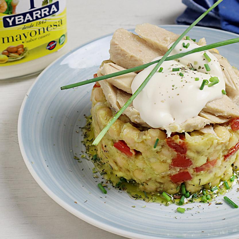 recetas ybarra ensalada de mar y campo con bonito y mayonesa