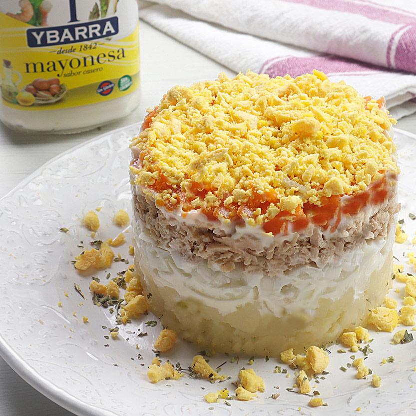 recetas ybarra ensalada mimosa con mayonesa