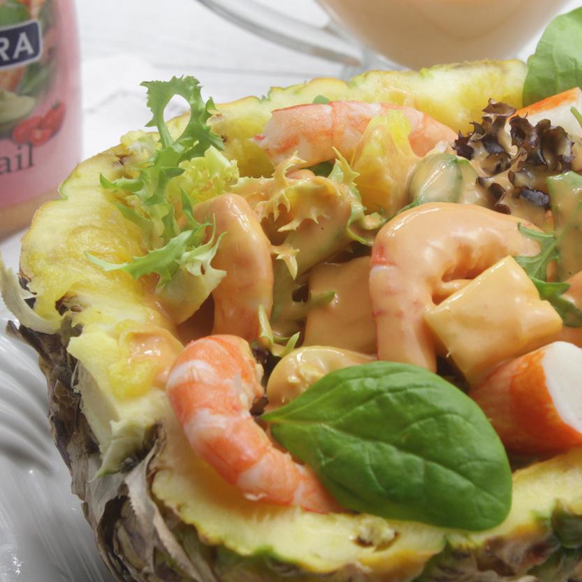 recetas ybarra ensalada de piña con salsa cocktail