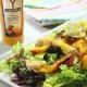 recetas ybarra ensalada de pollo con nectarina y crema de vinagre de mango
