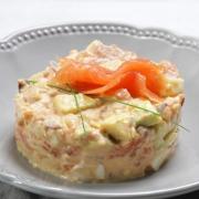 recetas ybarra ensaladilla con salmon, aguacate y mayonesa