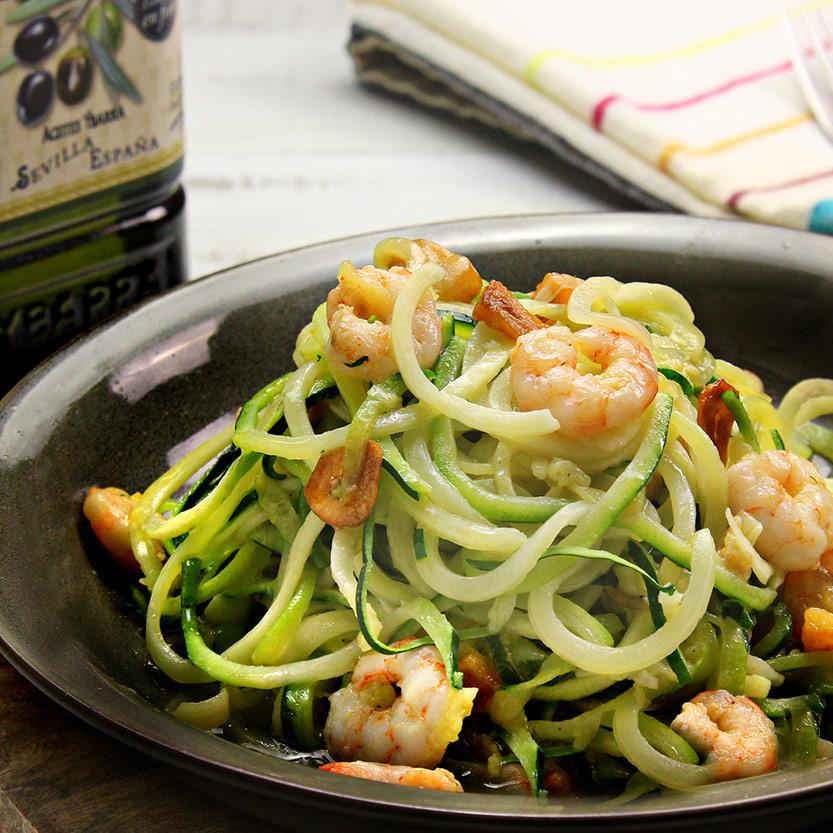 recetas ybarra espagueti de calabacin con aceite de oliva virgen extra
