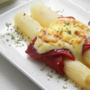 recetas ybarra esparragos gratinados con pimiento y mayonesa