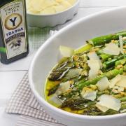 recetas ybarra de esparragos al horno con ajo al limon