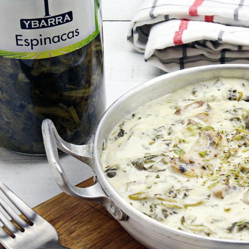 recetas ybarra espinacas con crema