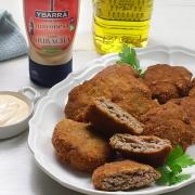 Receta ybarra de filetes rusos con mayonesa sriracha