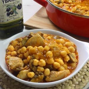 recetas ybarra garbanzos con pollo y aceite virgen extra
