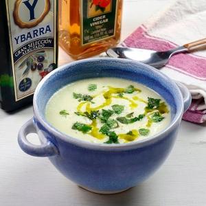 recetas ybarra gazpacho de melon con aceite virgen extra y vinagre de manzana