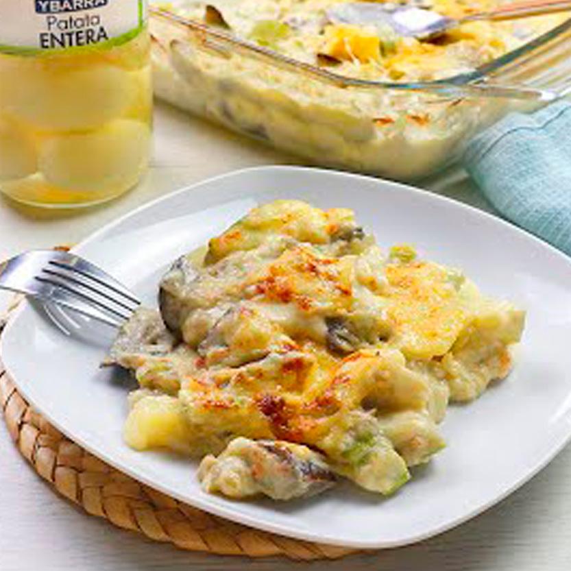 recetas ybarra graten de calabacin, berenjenas y patatas