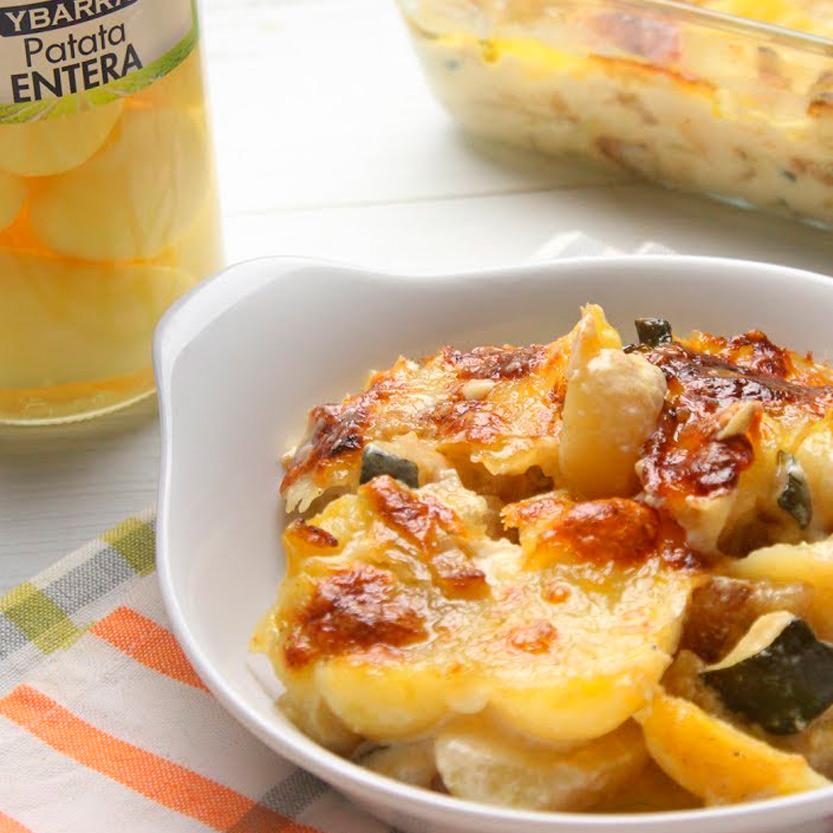 recetas ybarra gratinado de patatas y calabacin