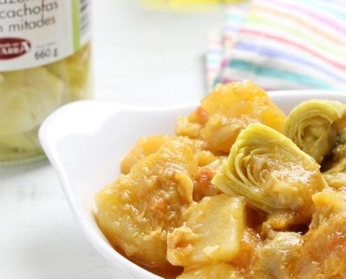 recetas ybarra patatas con alcachofas