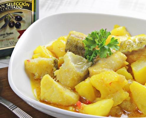recetas ybarra patatas con bacalao