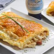 recetas ybarra hojaldre con pollo y salsa roquefort
