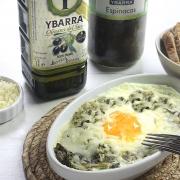 recetas ybarra huevos a la florentina con espinacas