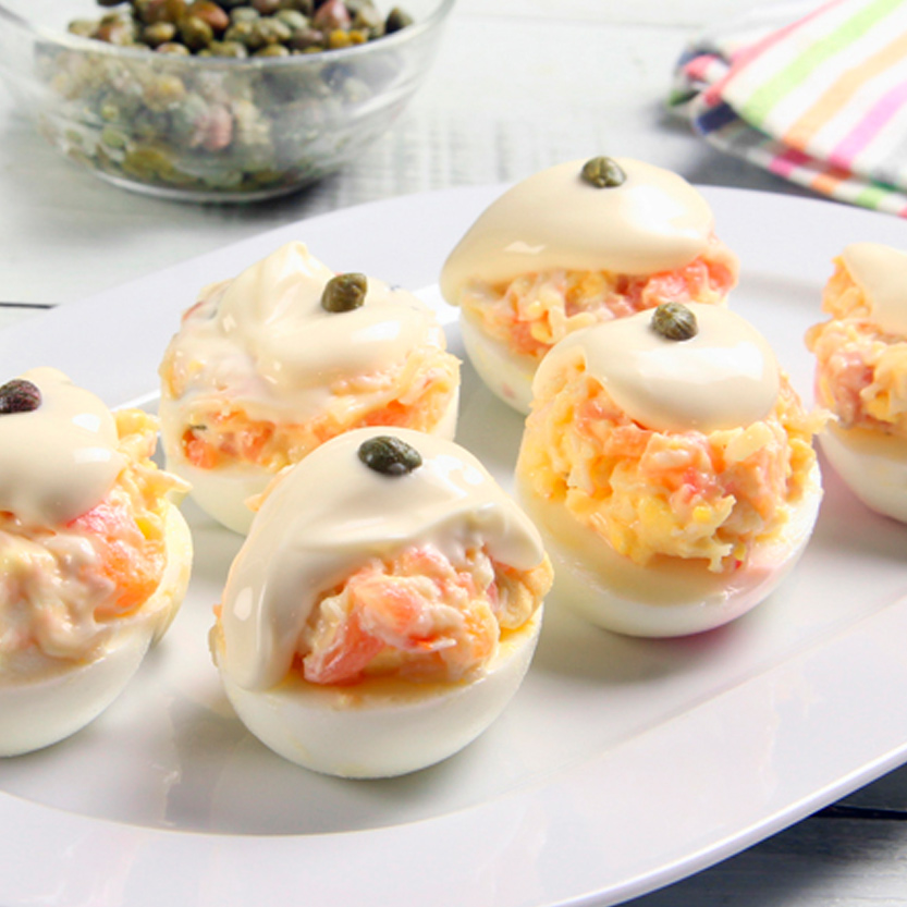 recetas ybarra huevos rellenos de ahumados y mayonesa