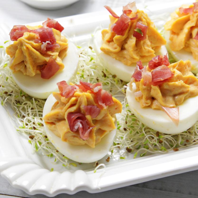 recetas ybarra huevos rellenos a la diabla con mayonesa