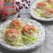 recetas ybarra huevos rellenos de navidad con salsa cocktail