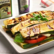 recetas ybarra lasaña fria de calabacin con crema de vinagre de modena y aceite virgen extra