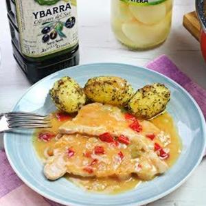 recetas ybarra lomo a la cerveza con aceite virgen extra y patatas