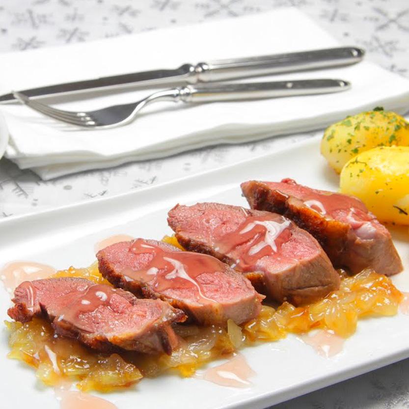 recetas ybarra magret de pato a la crema con vinagre de frambuesa