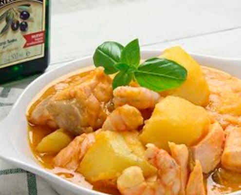 recetas ybarra marmitako de salmon en aceite virgen extra